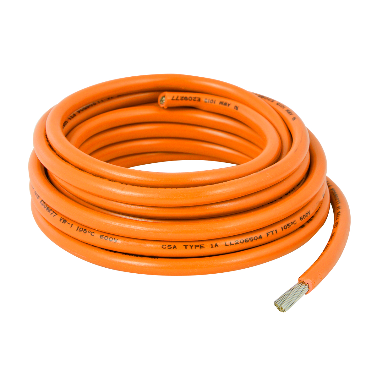 55002 Orange UL Listed Primary Wires in 14 Gauge