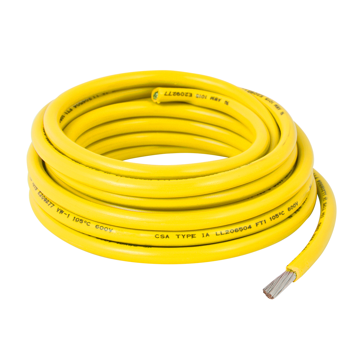 55024 Yellow UL Listed Primary Wires in 18 Gauge