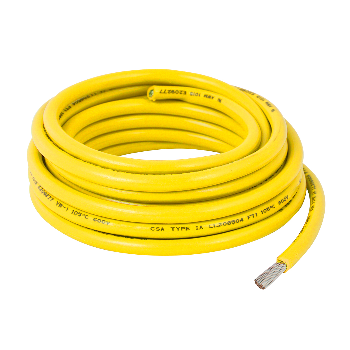 55034 Yello UL Listed Primary Wires in 10 Gauge