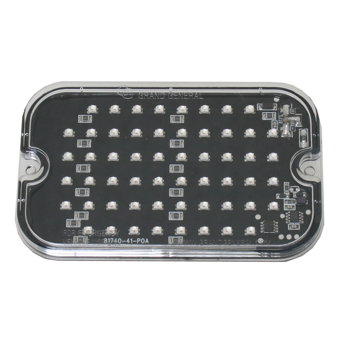 81740 Amber/Clear Ultra Thin Large Rectangular Strobe LED Light