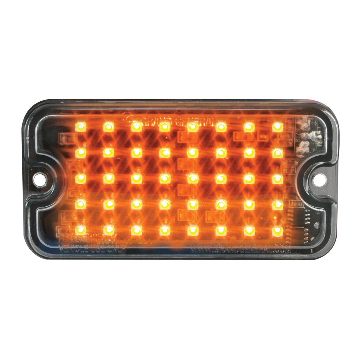 81741 Amber/Clear Ultra Thin Small Rectangular LED Strobe Light