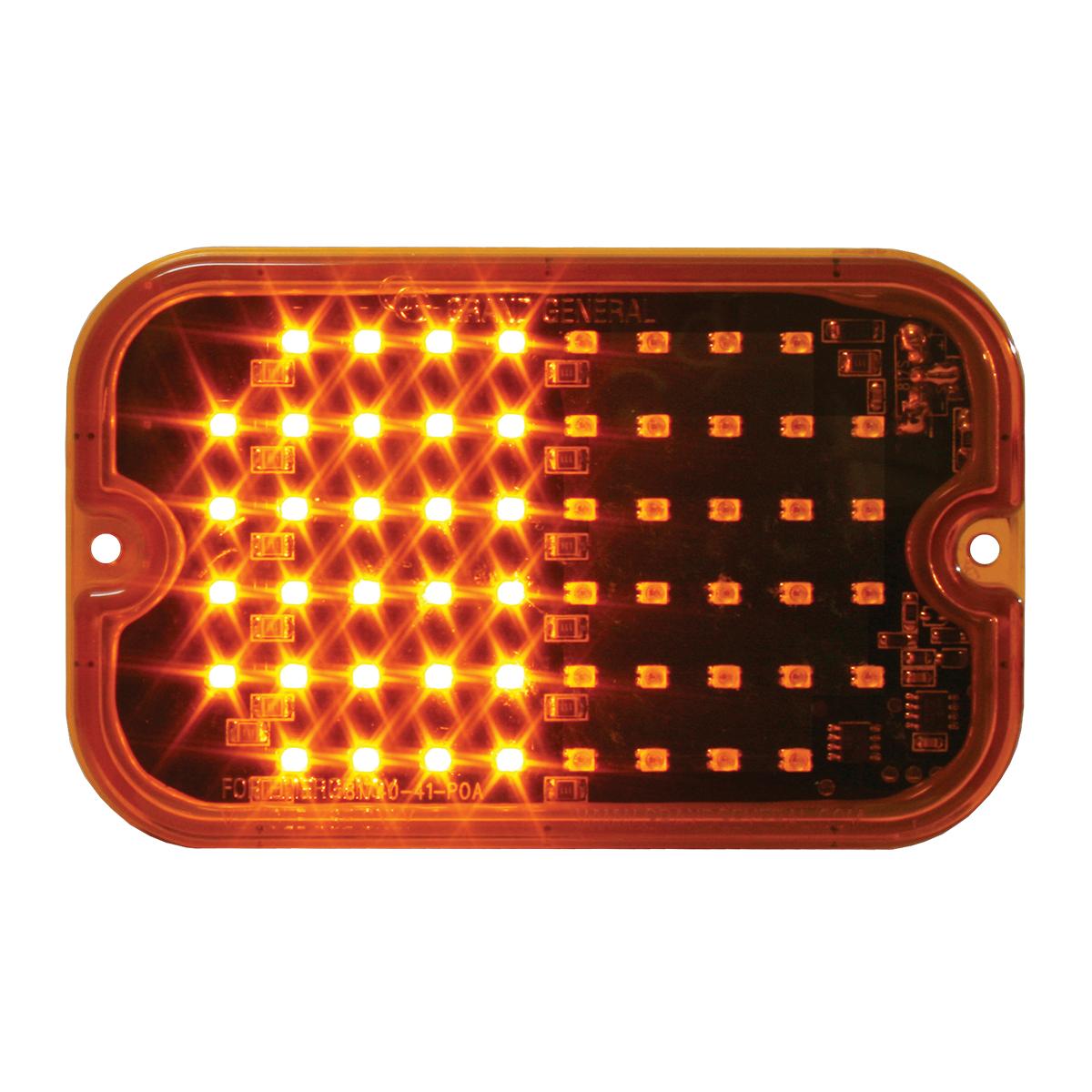 81744 Amber/Amber Ultra Thin Large Rectangular Strobe LED Light