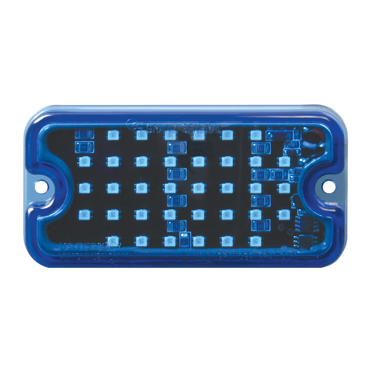 81748 Blue/Blue Ultra Thin Small Rectangular LED Strobe Light