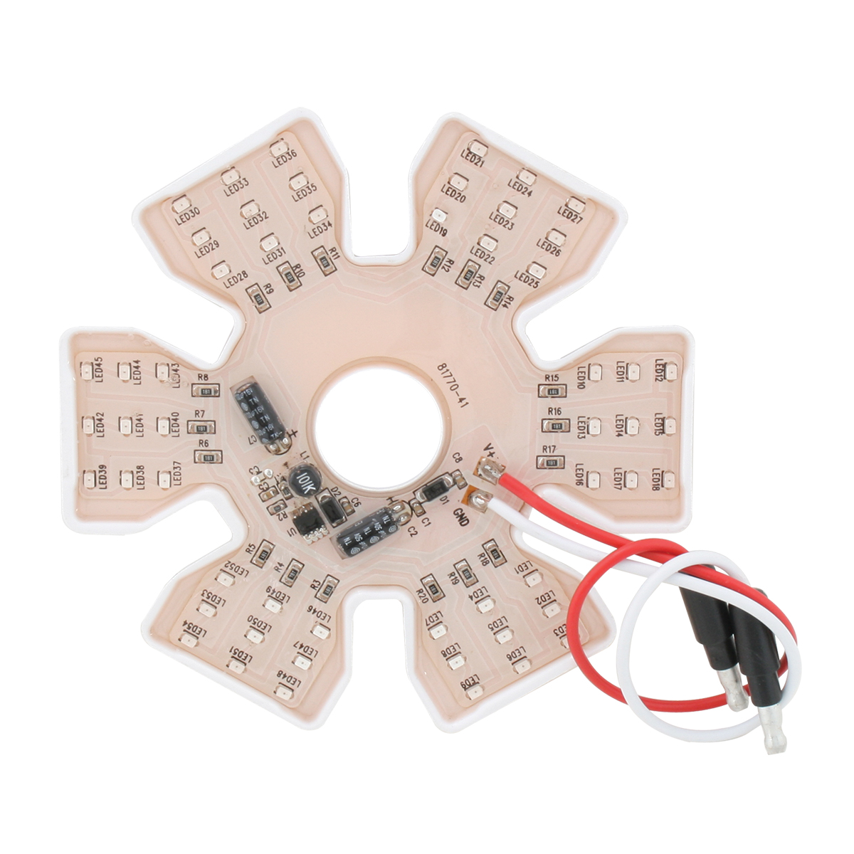 Unlit Ultra Thin Hex Air Cleaner LED Light