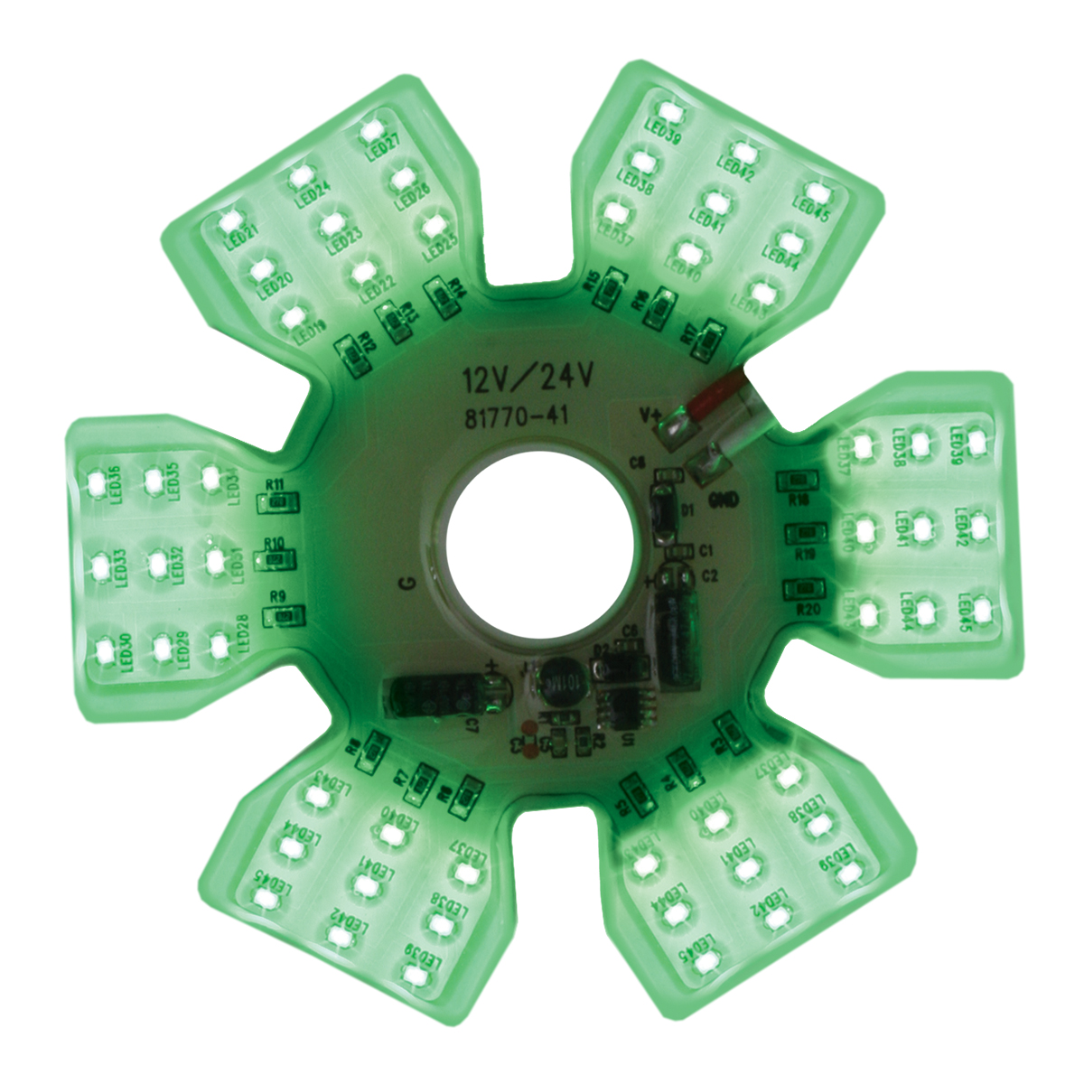 81773 Green Ultra Thin Hex Air Cleaner LED Light