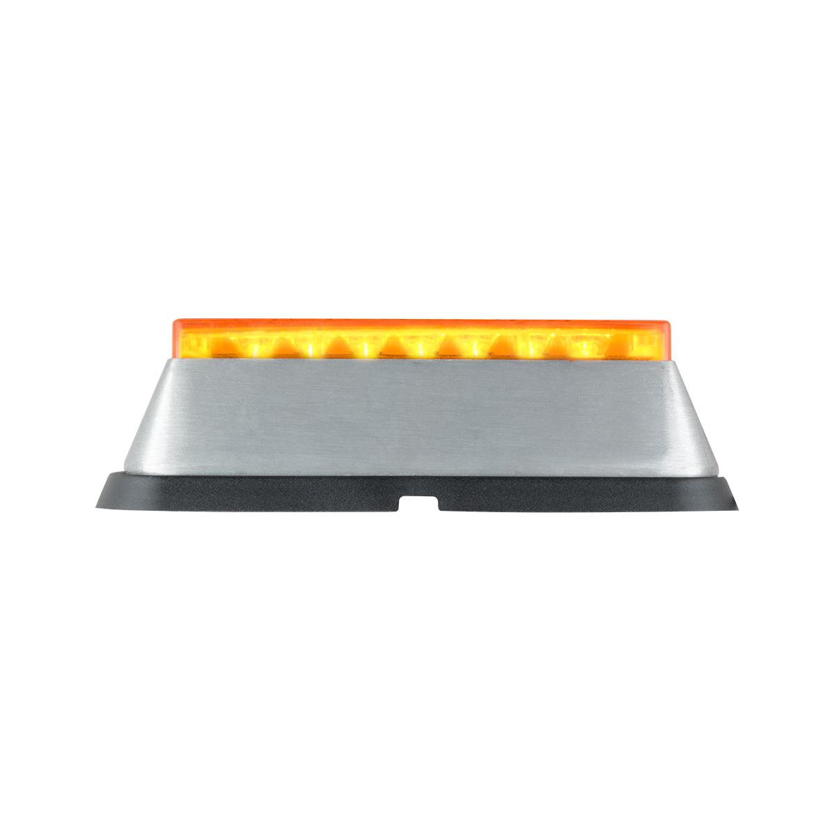81820 Amber/Amber Medium Rectangular 14 LED Strobe Light