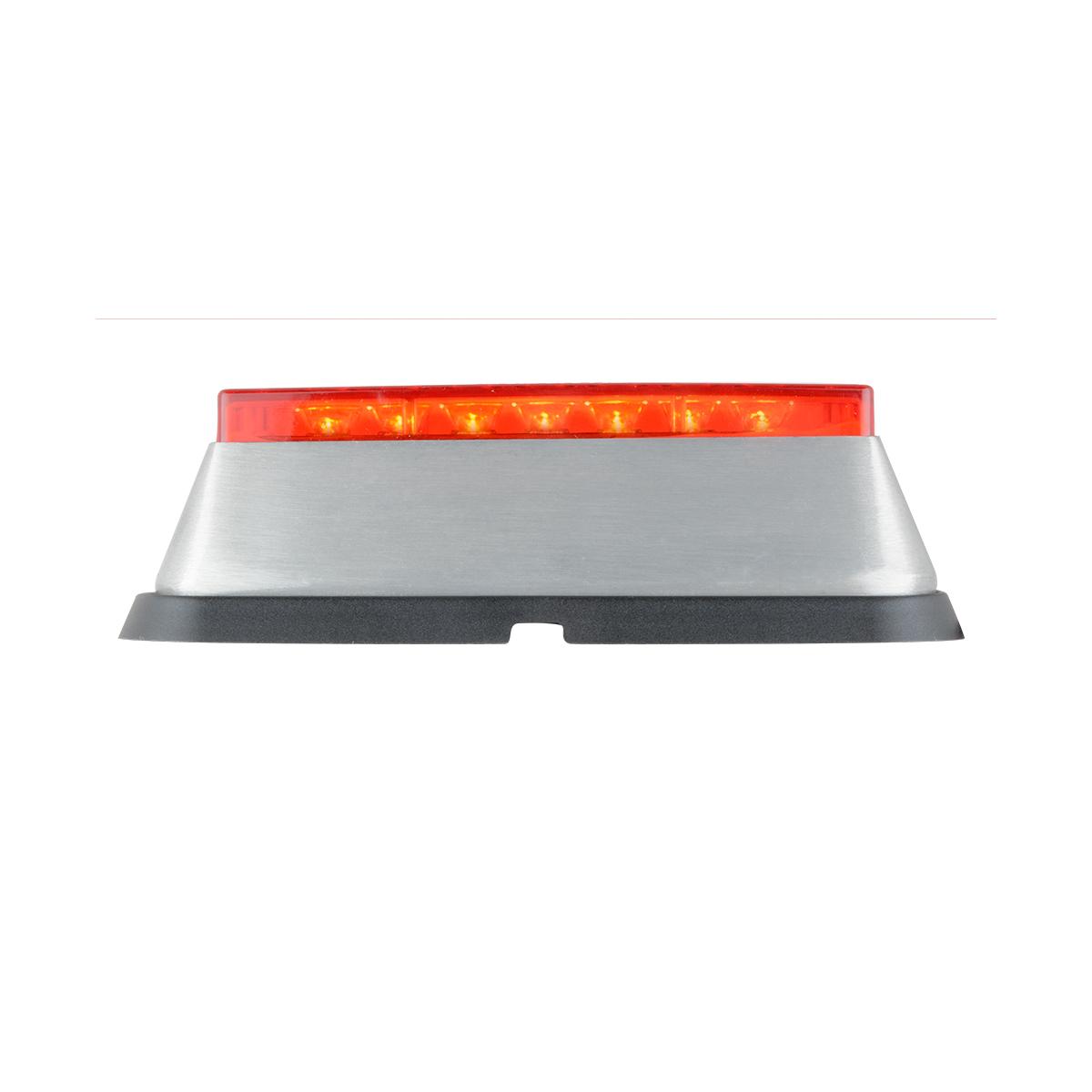 81822 Red/Red Medium Rectangular 14 LED Strobe Light
