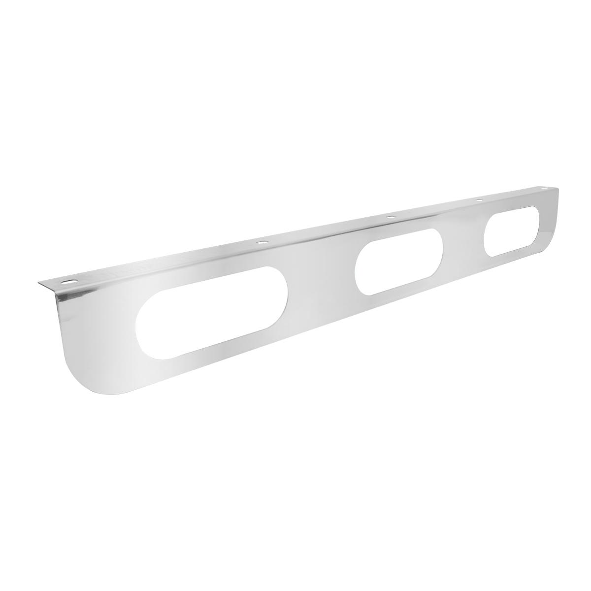 "Stainless Steel Triple Light ""L"" Shape 33 ¼"" Long Mounting Bracket Only"