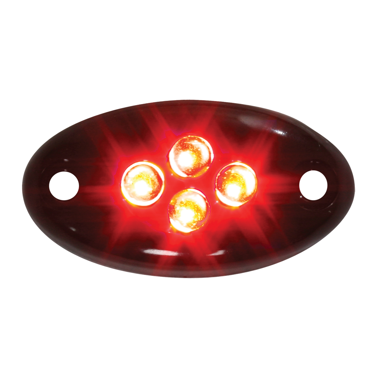 87433 Red Small Oval Black Plastic Courtesy LED Light