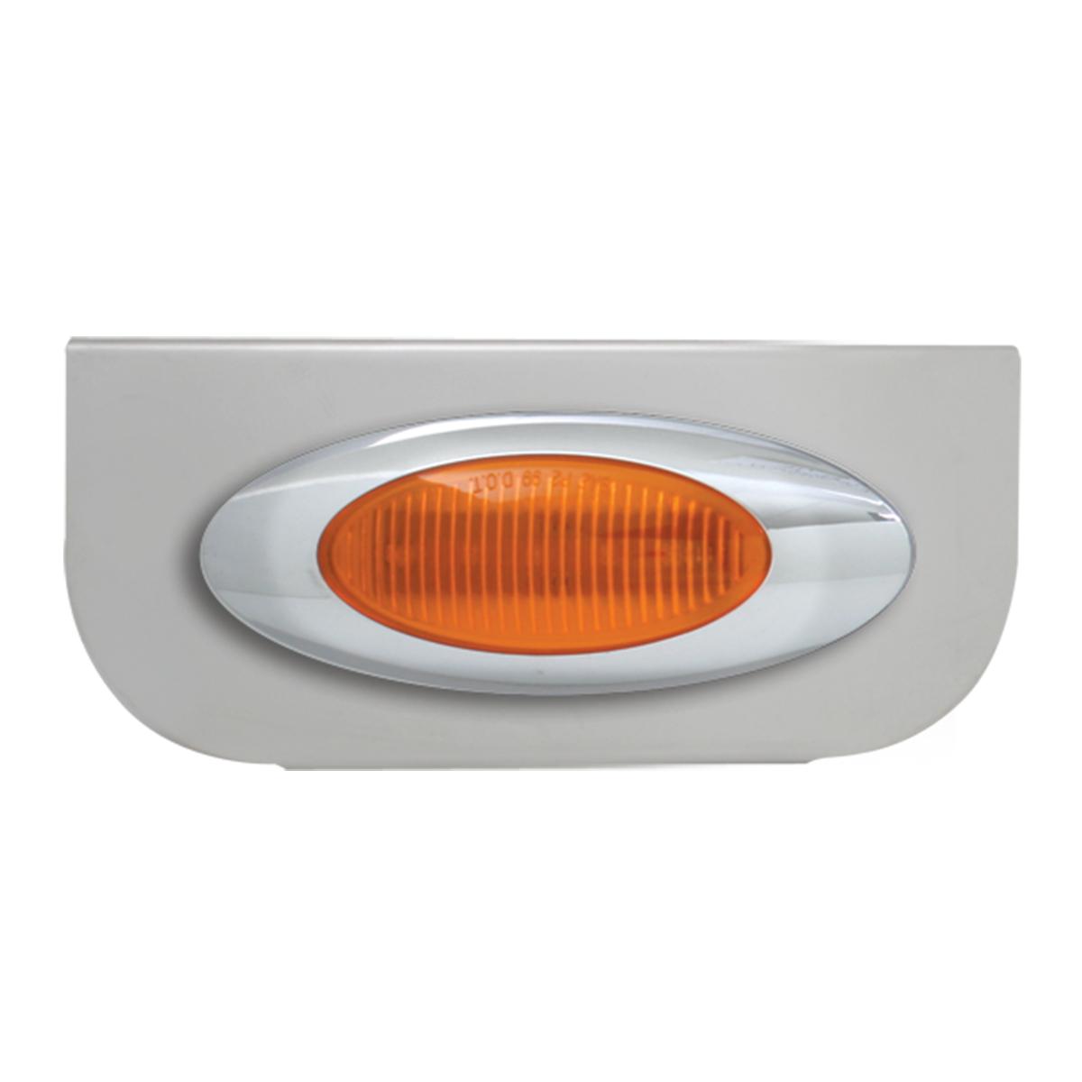 """#89010 Single Chrome """"L"""" Shape Light Bracket with Plug-In Y2K Incandescent Light"""