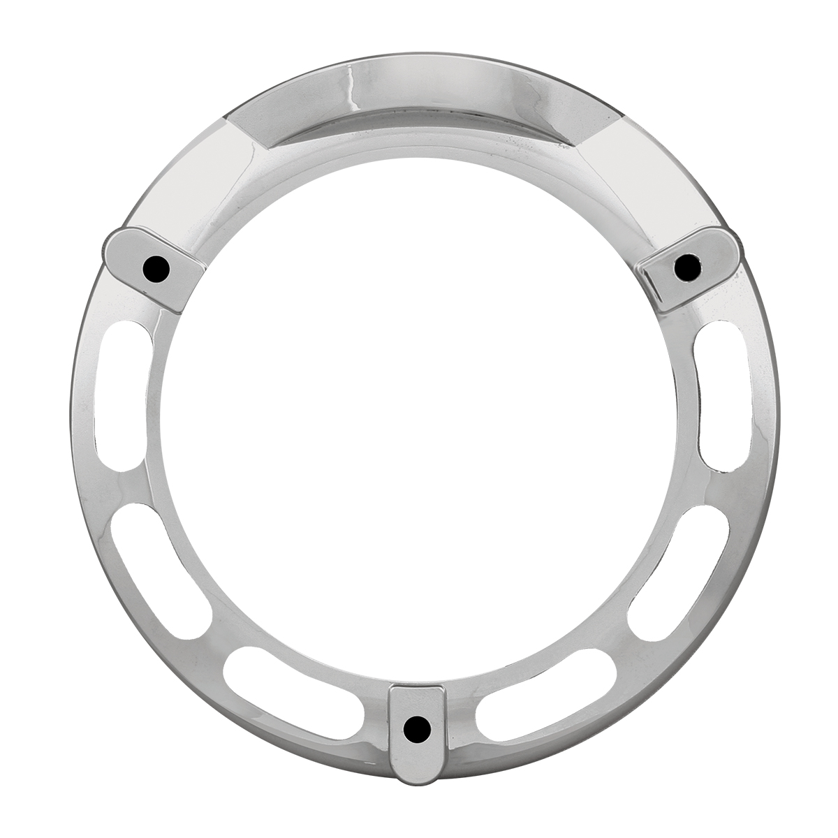 "68216 Chrome Plastic Bezel for 4"" Combination Pedestal Lights"