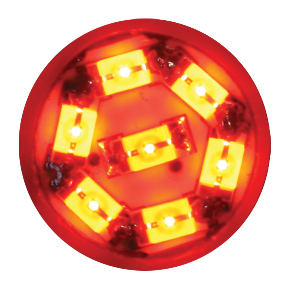 74903 Red 194/168 Dome Type 7 LED Light Bulb
