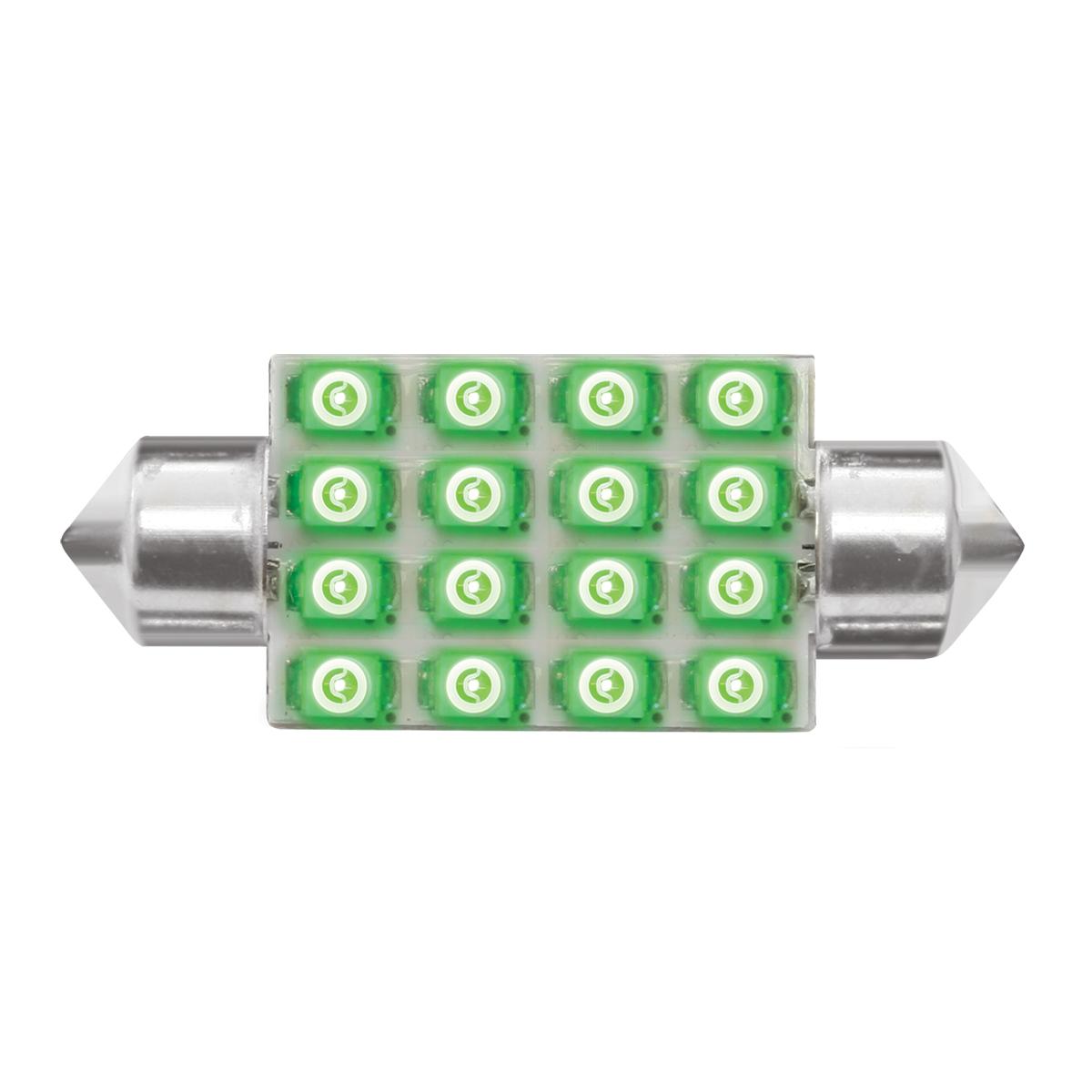 76102 Green 211-2 Dome Type 16 LED Light Bulb
