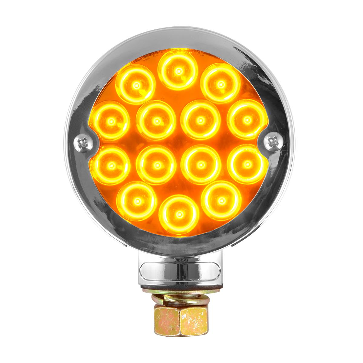"""78397 Chrome Plastic Bezel w/o Visor for 3"""" Round Pedestal Light"""