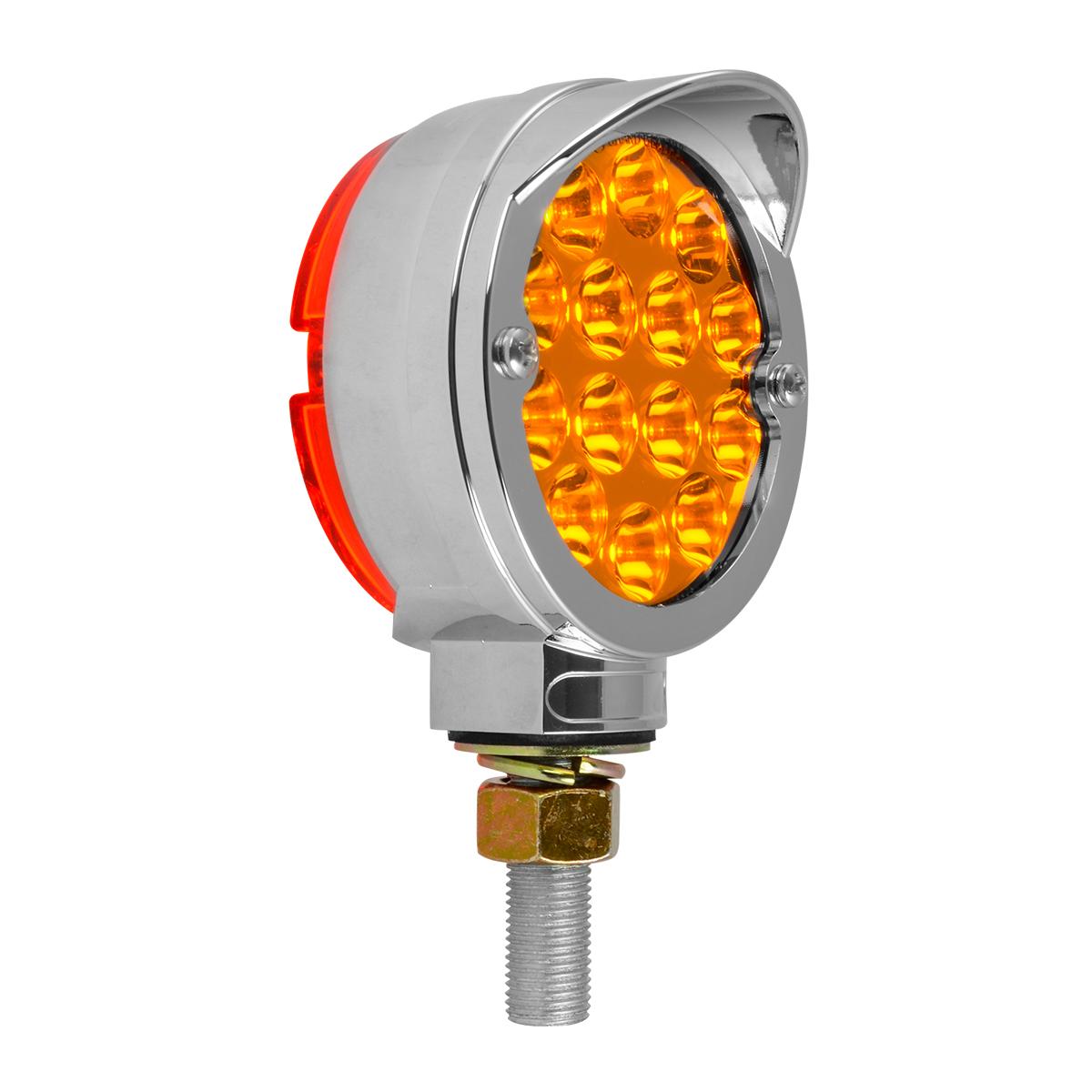 """78398 Chrome Plastic Bezel w/ Visor for 3"""" Round Pedestal Light"""