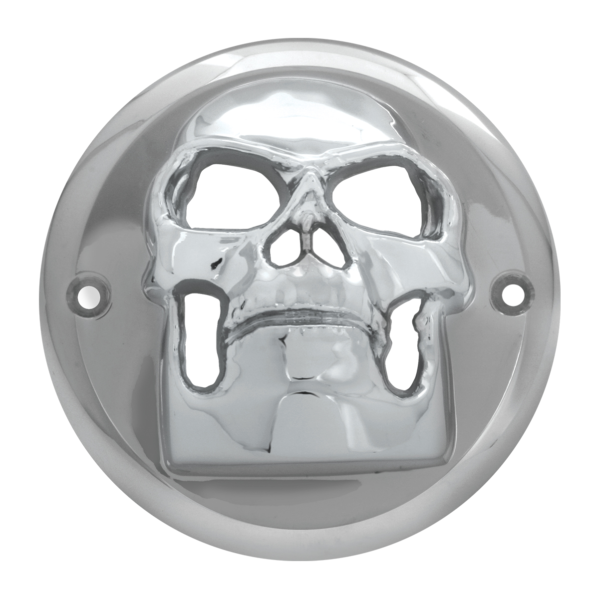 "78489 Chrome Plastic Skull Bezel for 2"" Round Light"