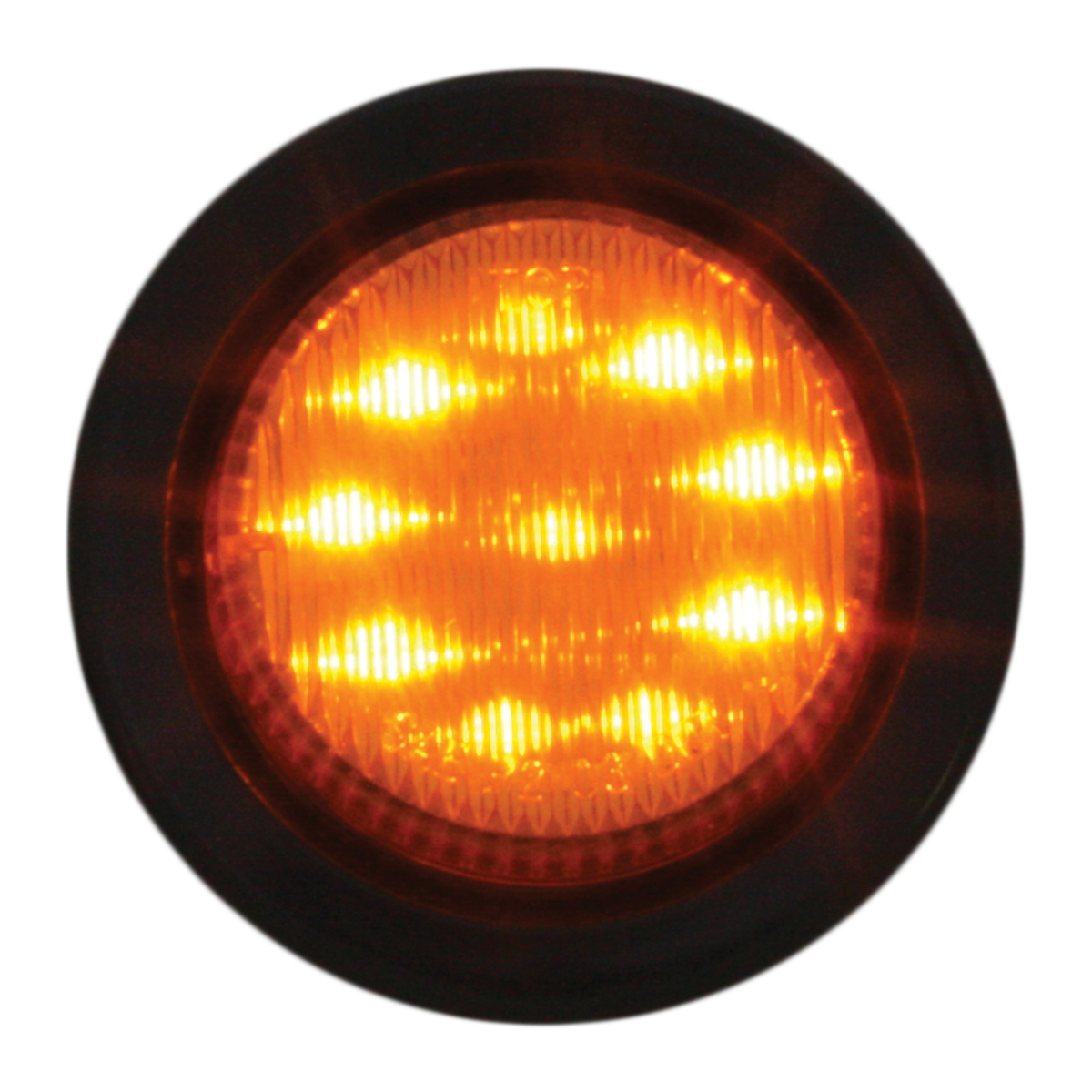 """79282 2"""" Round Fleet LED Marker Light w/ Grommet"""