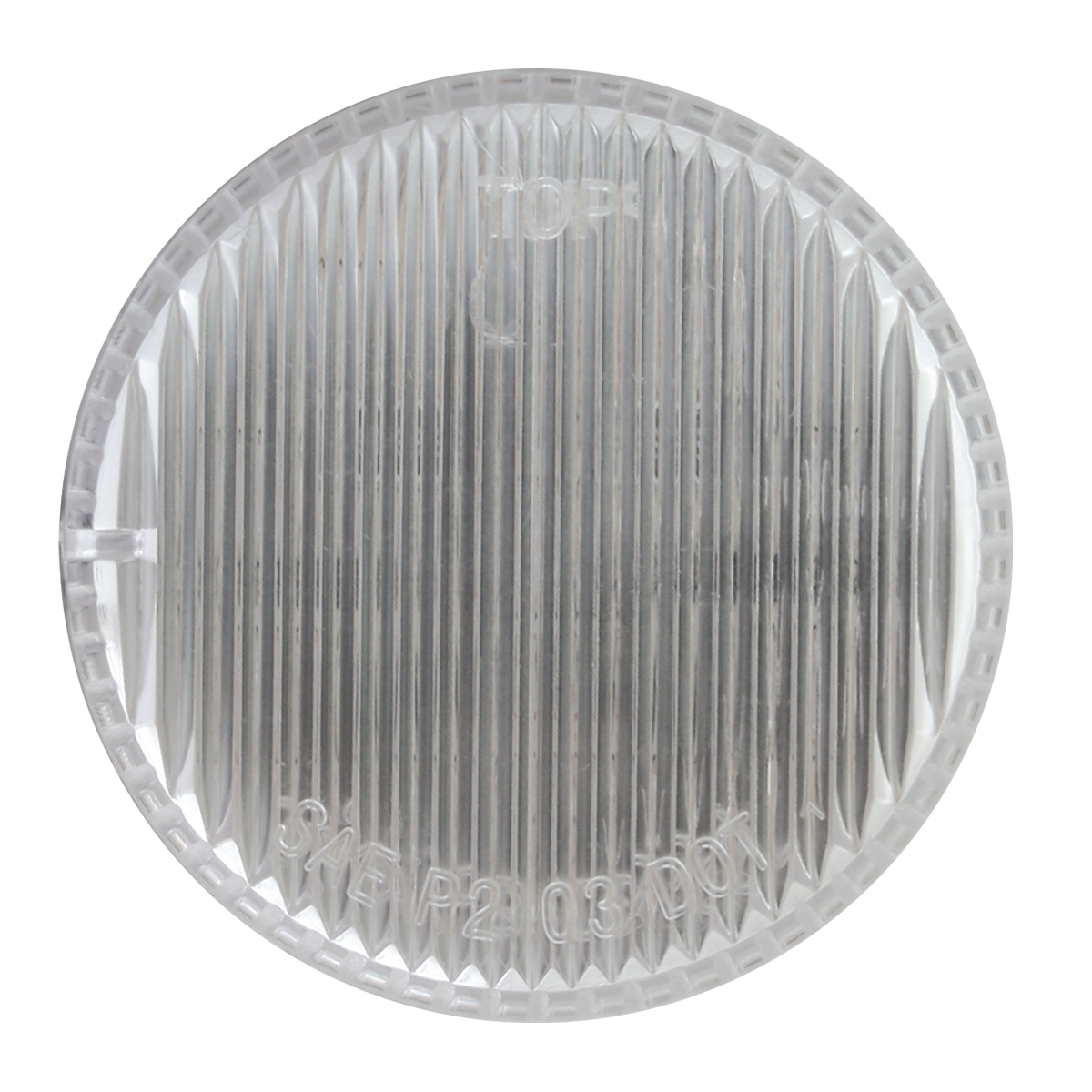 "2"" Round Fleet LED Marker Light in Clear Lens"