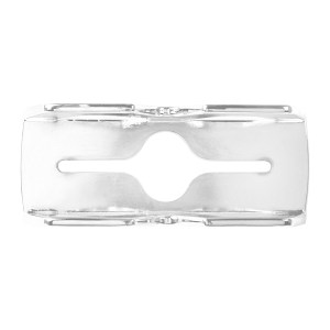 80013 Chrome Die Cast Lens Guard for Rectangular 2 Bulb Sealed Marker Lights