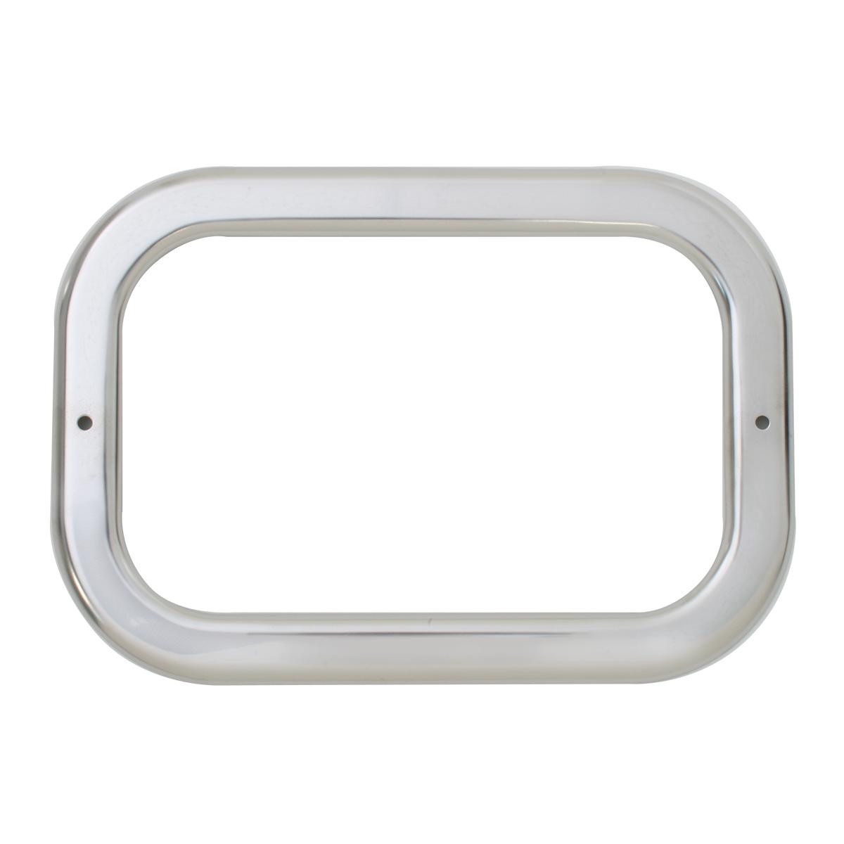 """80784 Stainless Steel Grommet Cover w/o Visor for 5.25"""" Large Rectangular Light"""
