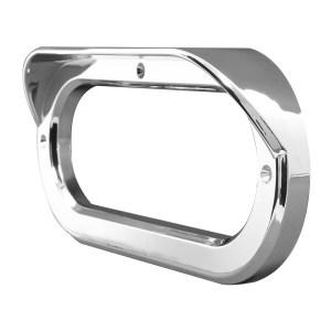 Grommet Cover w/ Visor in Horizontal Style for 6.5″ Large Oval Light