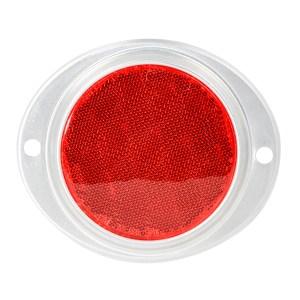 3″ Round Reflector w/ Aluminum 2 Hole Screw Mount Base