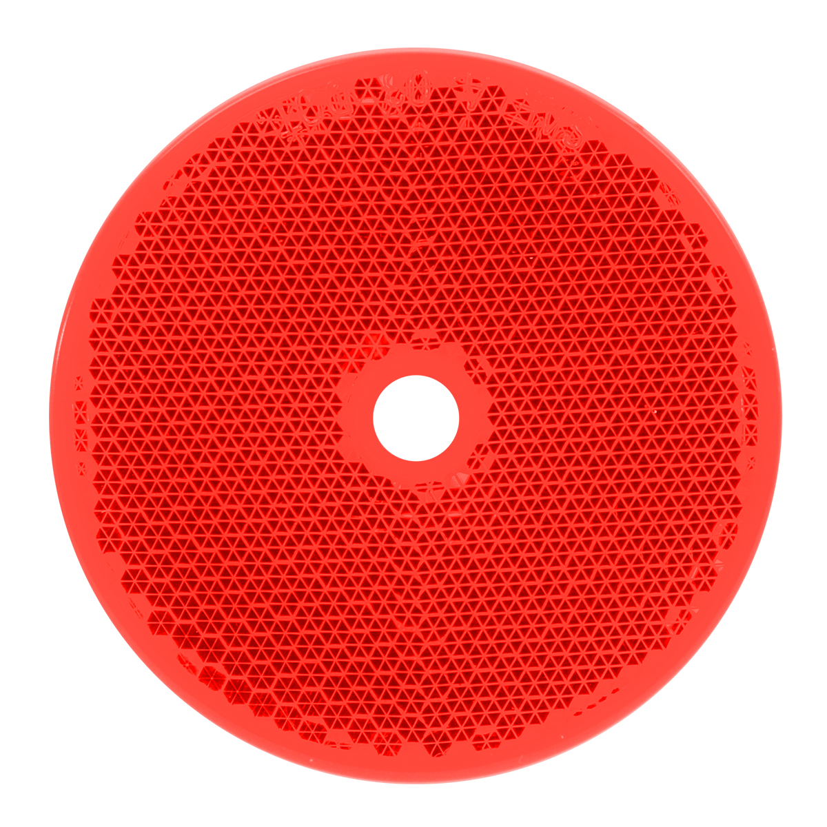 "80829 Red 2-3/8"" Round Reflector w/ Center Mounting Hole"