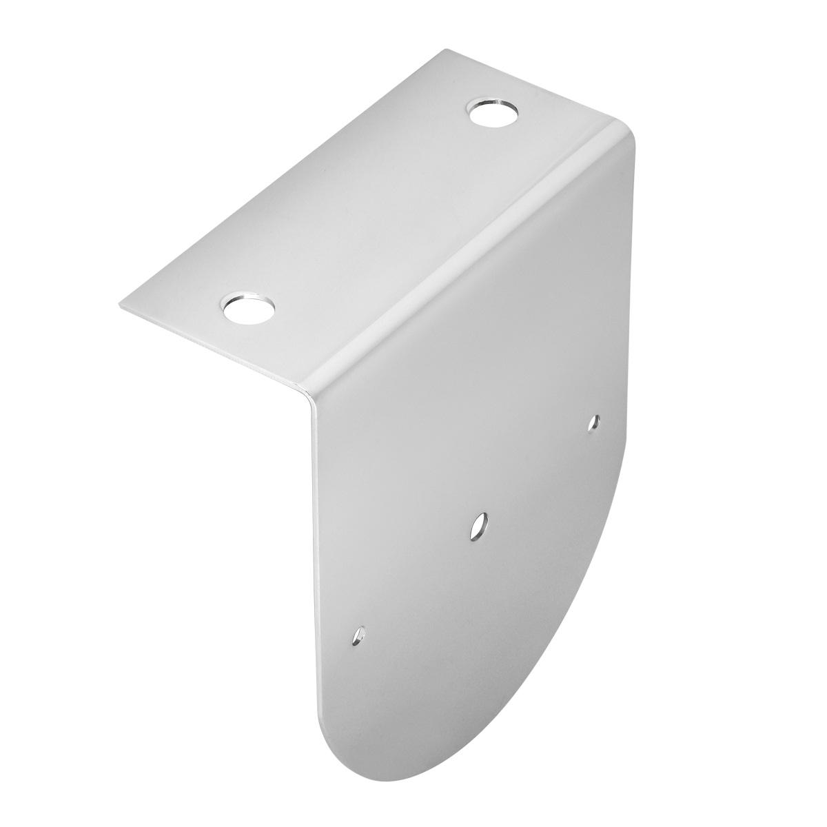 "#81550 Chrome Plated Steel Single ""L"" Shape Bracket Only"