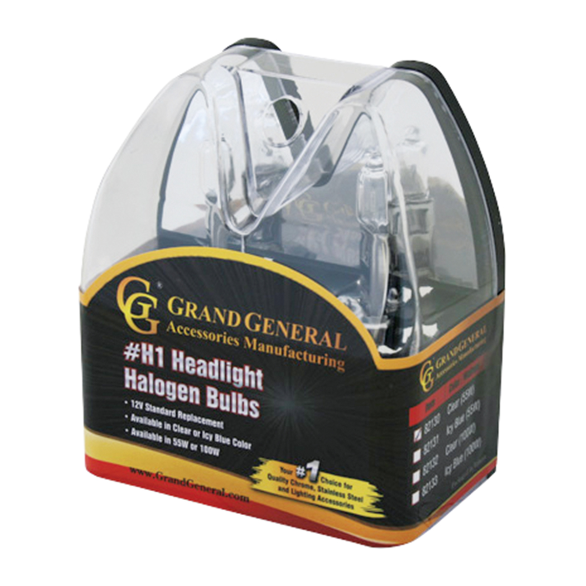 Clear H1 Headlight Halogen Bulb