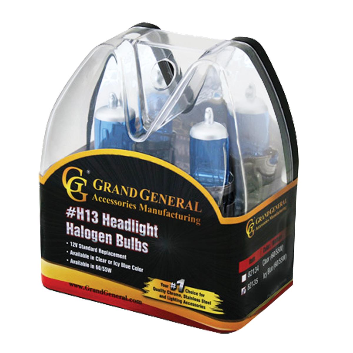 82135 Icy Blue H13 Headlight Halogen Bulb