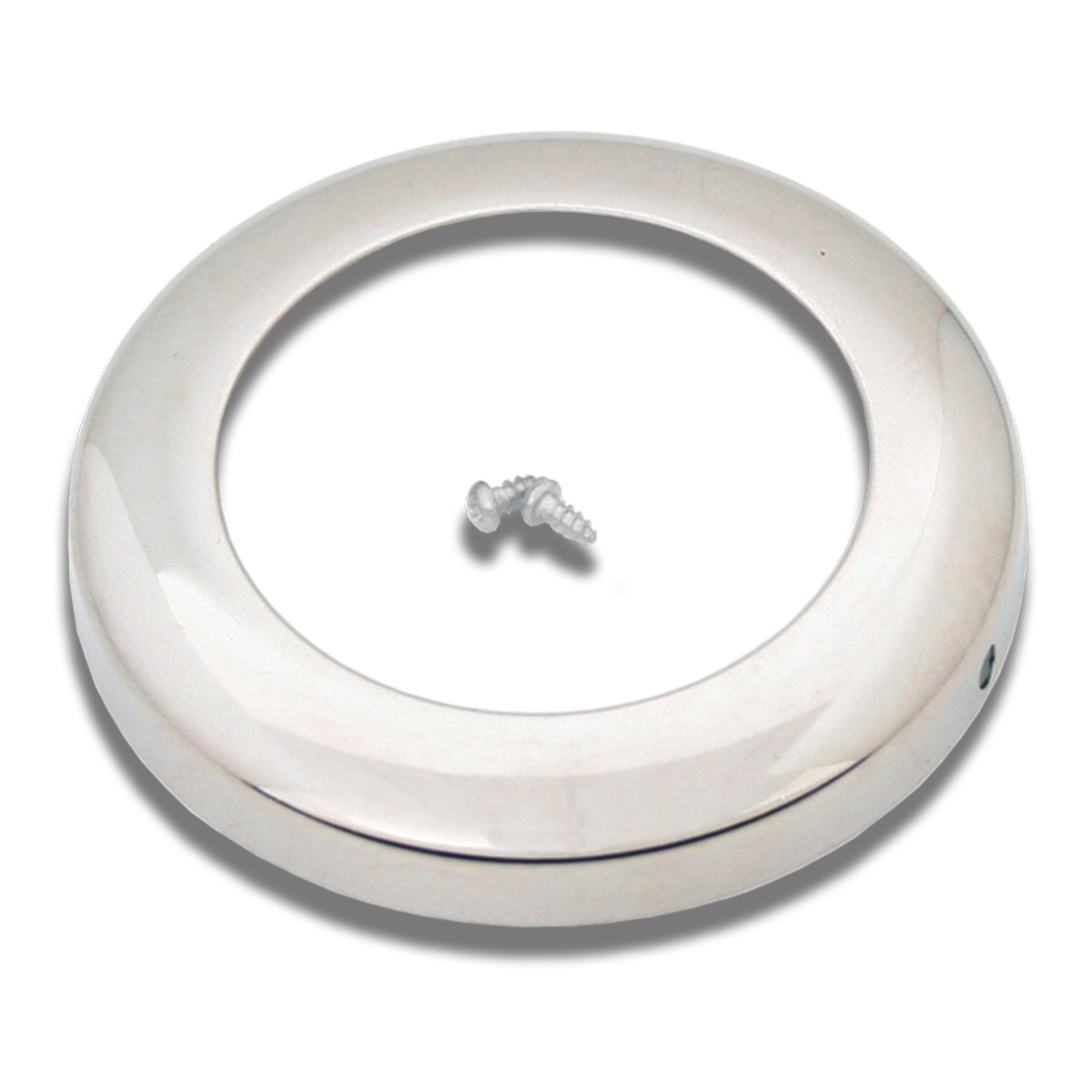"82348 Stainless Steel Grommet Cover in Full Collar Style for 2"" Round Light"