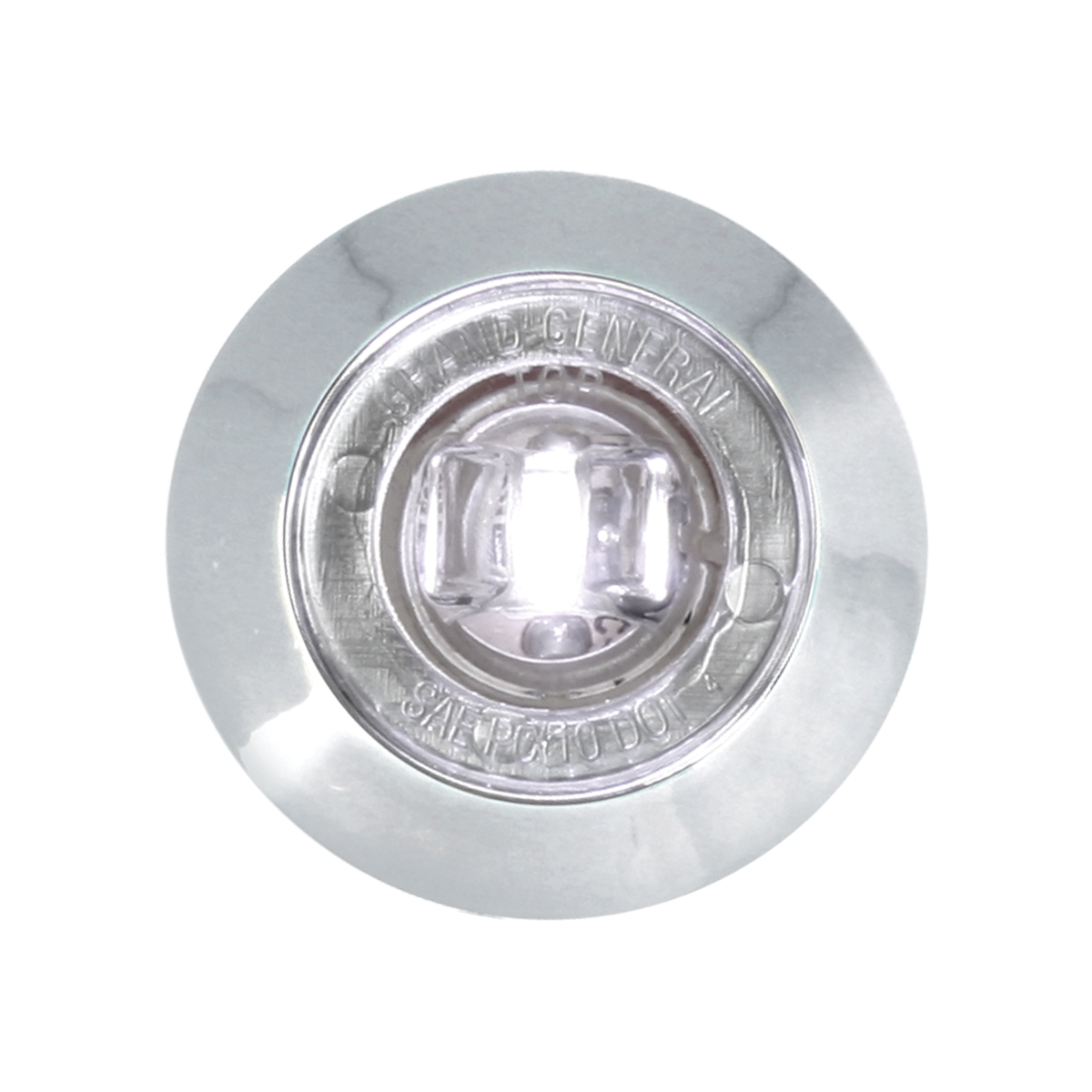 "87064 White 1"" Dia. Mini Push/Screw-in Wide Angle LED Marker Light w/ Chrome Bezel"