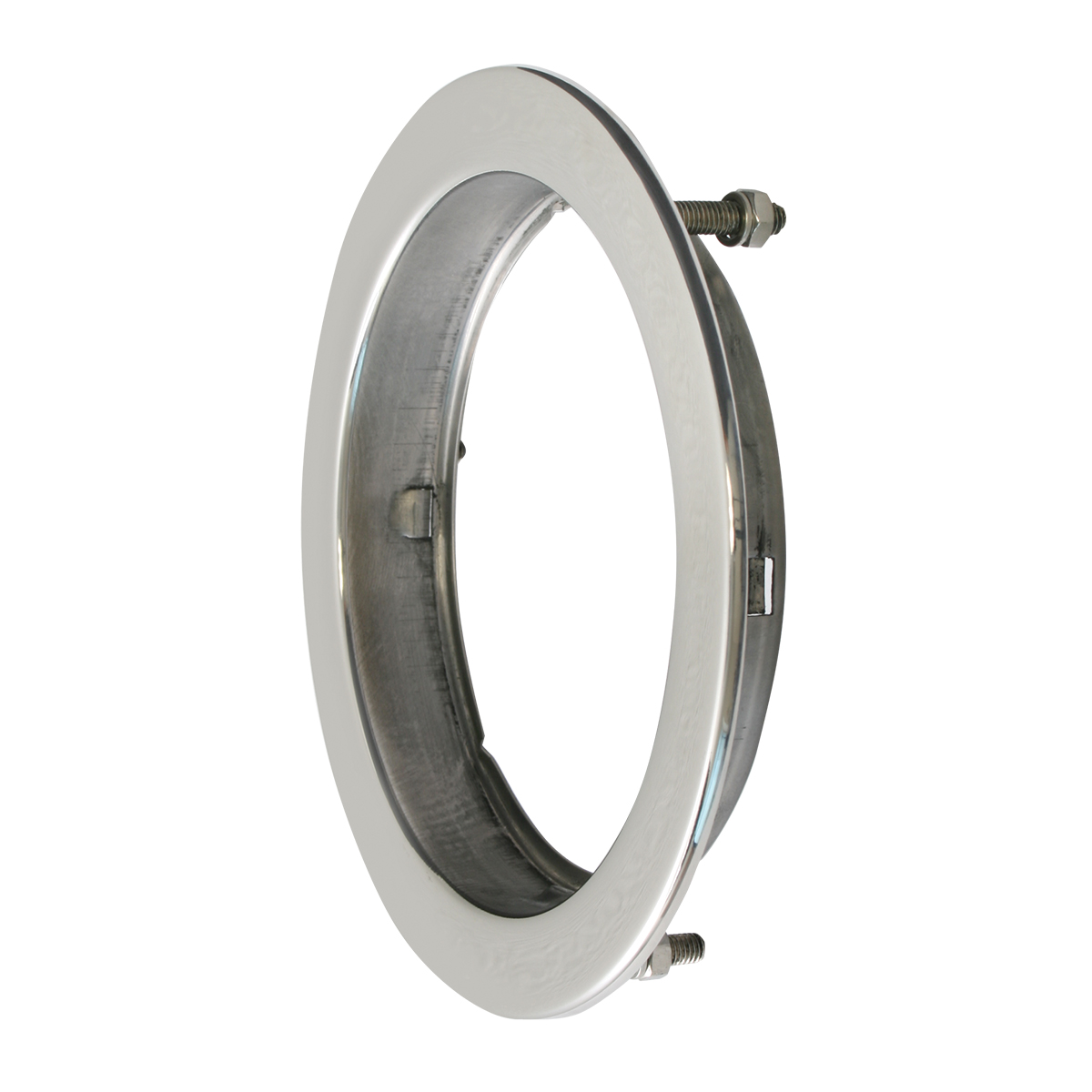 "81968 Stainless Steel Flange Mount Bezel with Hidden Studs for 4"" Round Light"