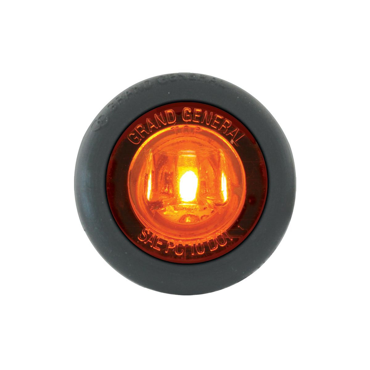 "87290 Amber/Amber 1"" Dia. Mini Push/Screw-in Wide Angle LED Marker Light w/ Grommet"