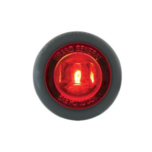 1″ Dia. Mini Push/Screw-in Wide Angle LED Marker Light w/ Grommet