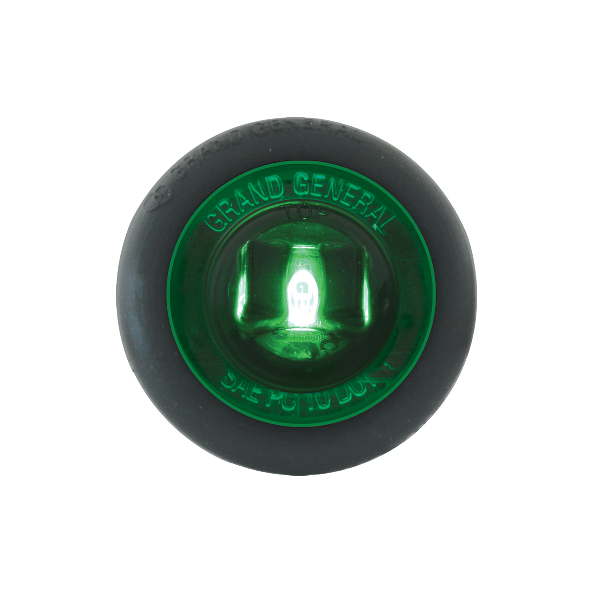 "87296 Green 1"" Dia. Mini Push/Screw-in Wide Angle LED Marker Light w/ Grommet"