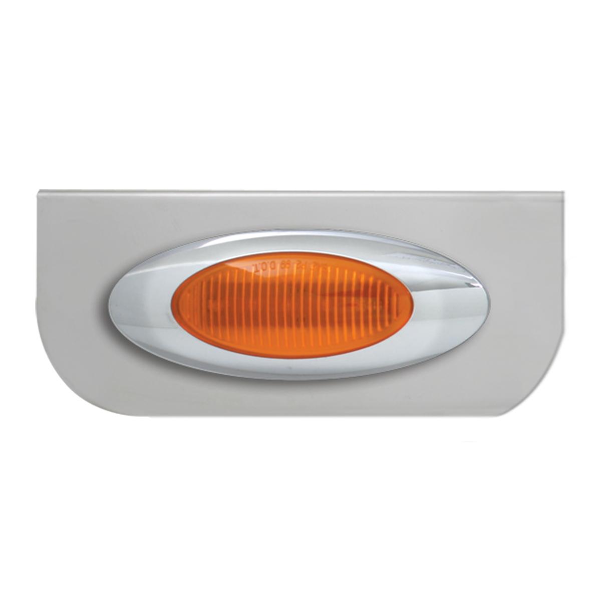 "#89020 Single Stainless Steel ""L"" Shape Light Bracket with Plug-In Y2K Incandescent Light"