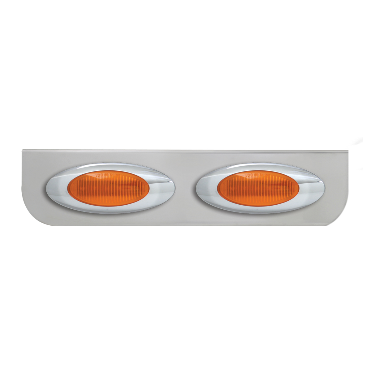 """#89040 Double Stainless Steel """"L"""" Shape Light Bracket with Plug-In Y2K Incandescent Lights"""
