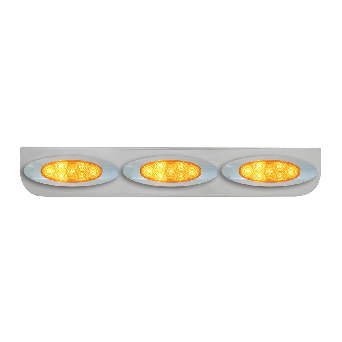 """#89056 Chrome Triple """"L"""" Shape Light Bracket for Plug-In Y2K Spyder LED Marker Lights"""