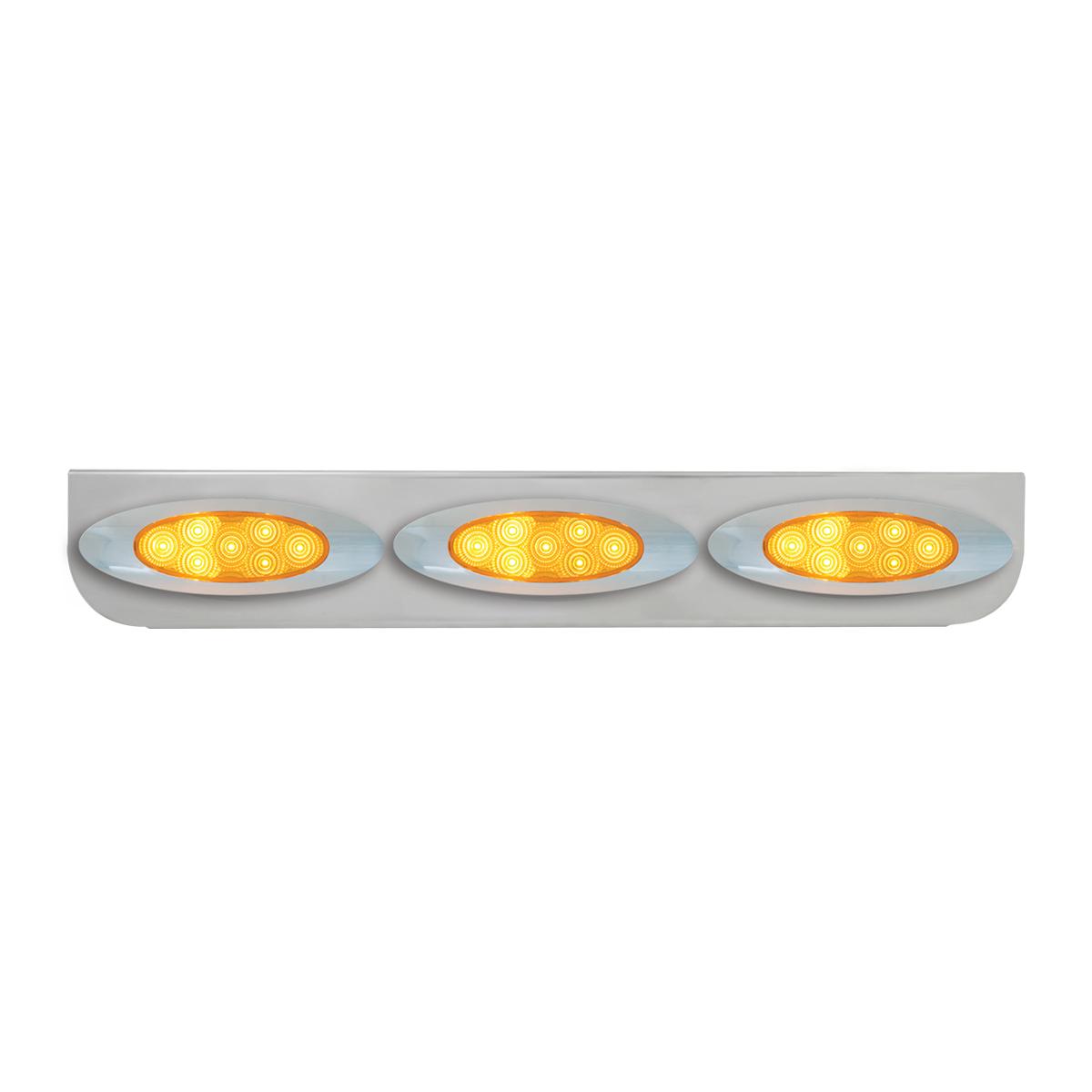 "#89066 Triple Stainless Steel ""L"" Shape Light Bracket with Plug-In Y2K Spyder LED Lights"
