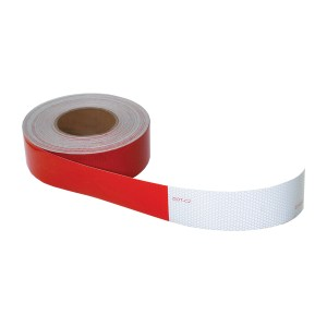 DOT-C2 Conspicuity Tape in Red & White 150′ Roll