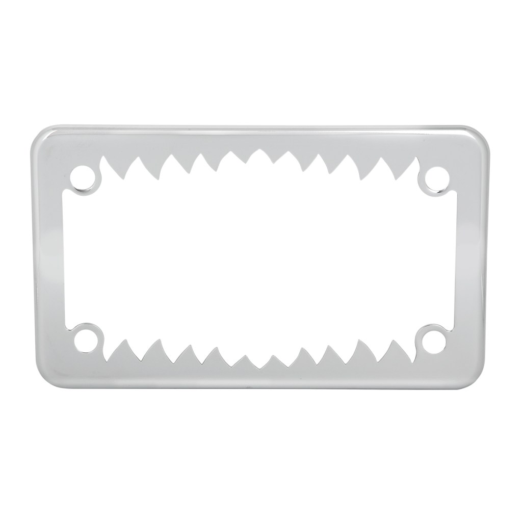Lighted Motorcycle License Plate Frame Chrome
