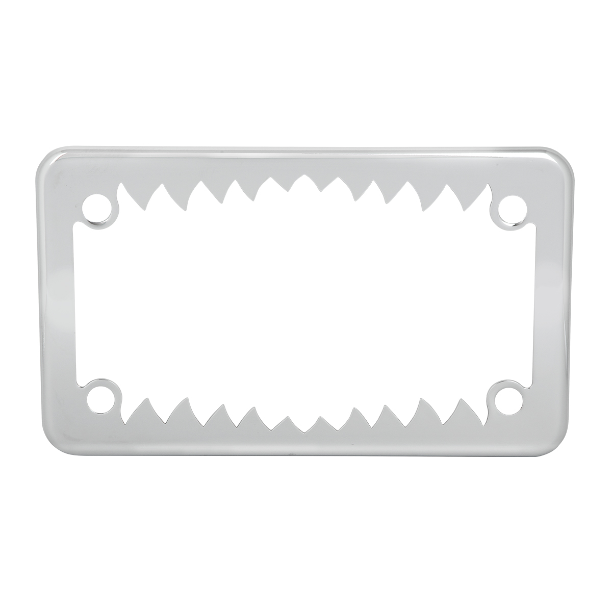 Motorcycle Shark Teeth License Plate Frame - Grand General - Auto ...
