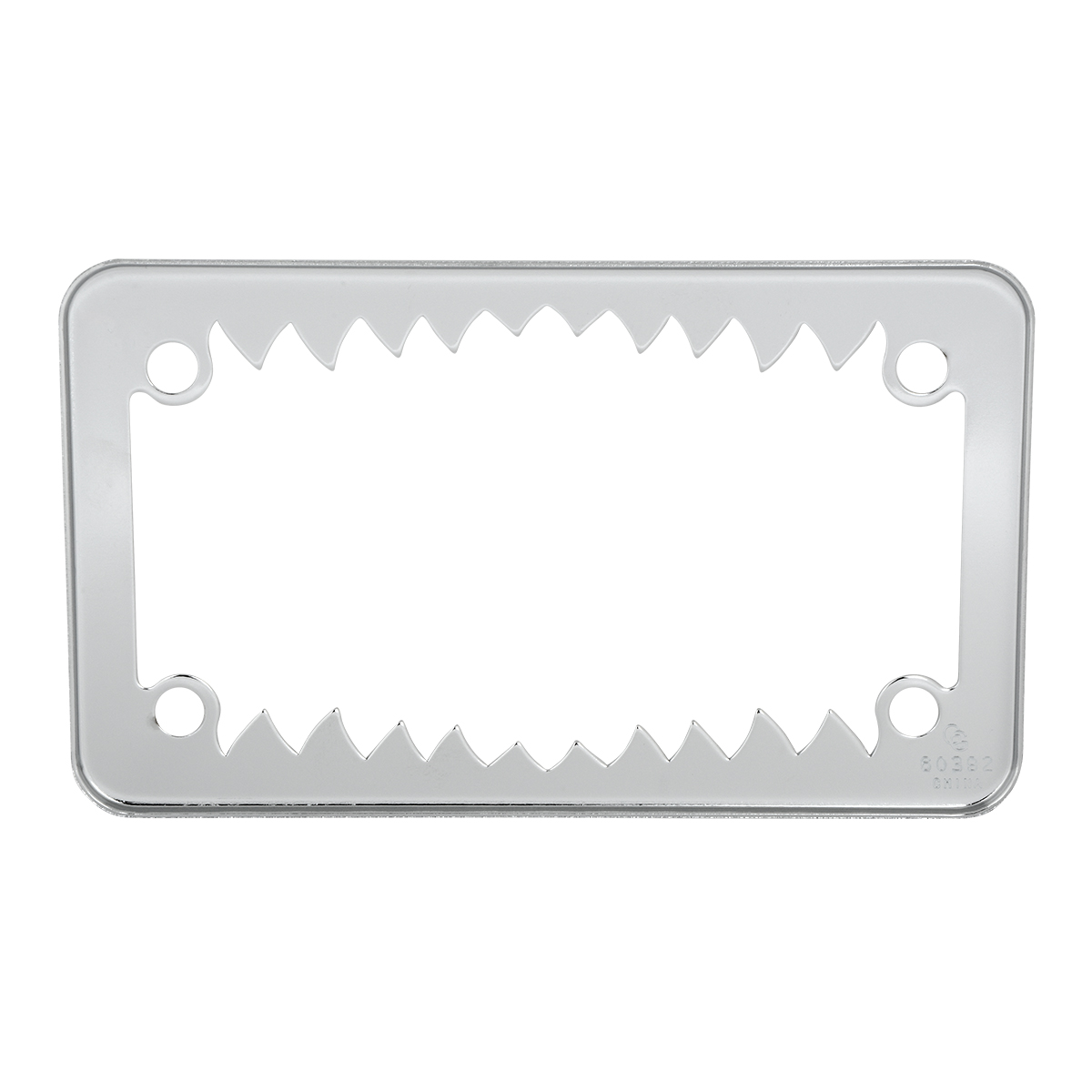 60392 Motorcycle Shark Teeth License Plate Frame