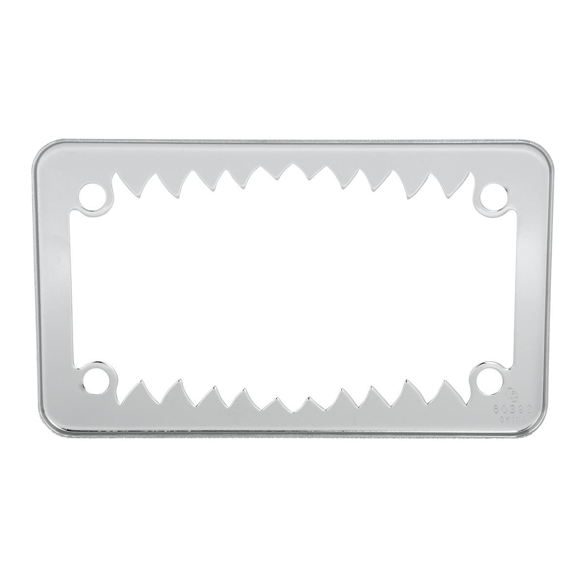 60392 Motorcycle Shark Teeth License Plate Frame