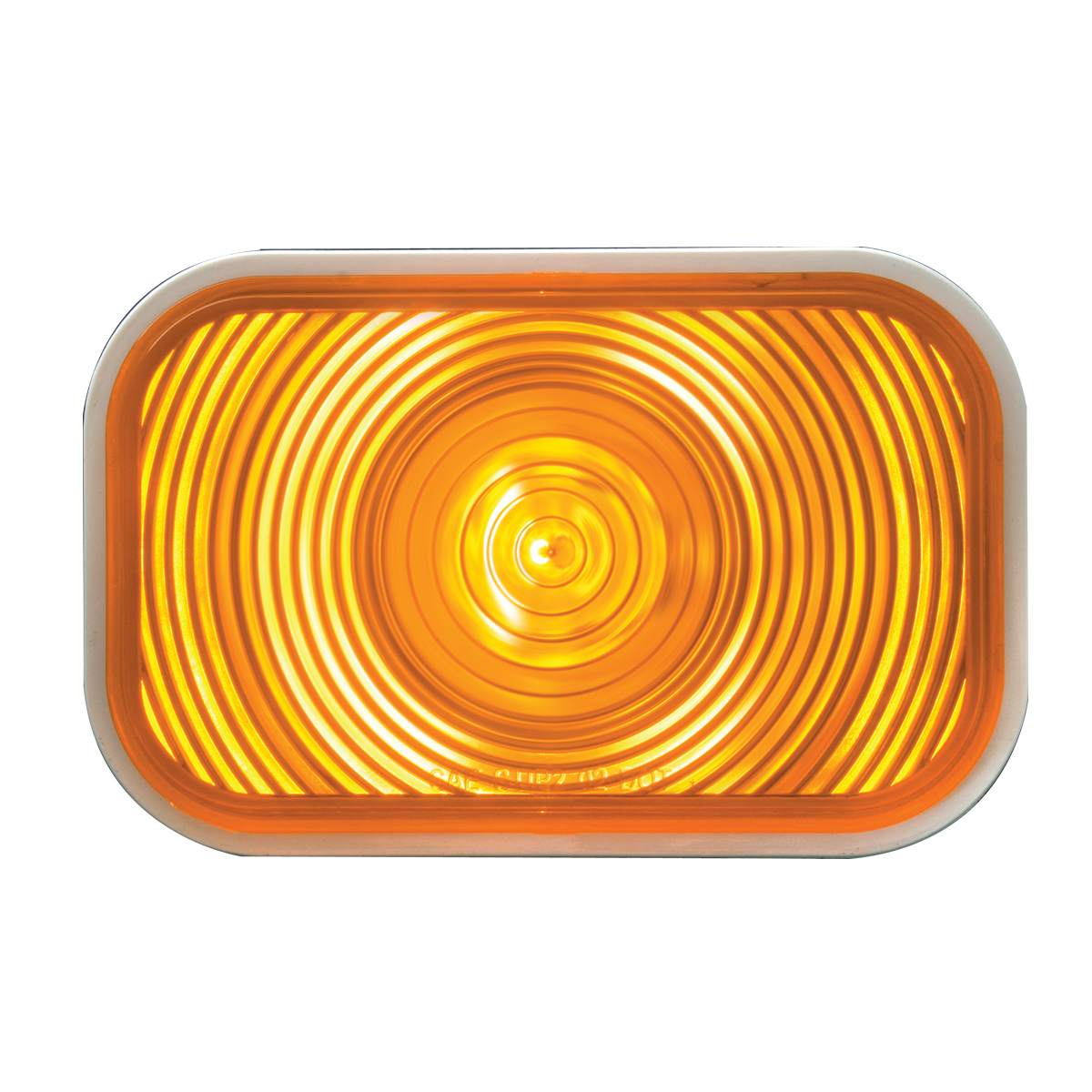 #80771 Incandescent Rectangular Flat Amber/Amber Light