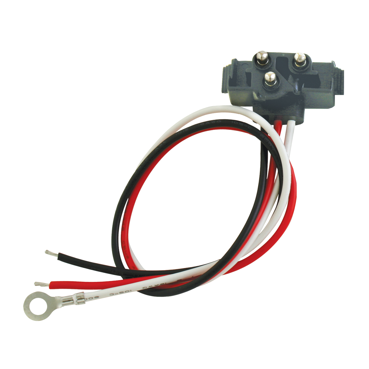 """80783 Right Angle 3-Prong Light Plug with 11"""" Lead Wire"""