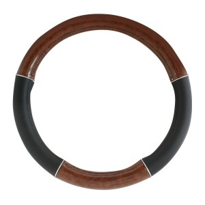 Heavy Duty 18″ Steering Wheel Covers in Deluxe Wood Grain Series