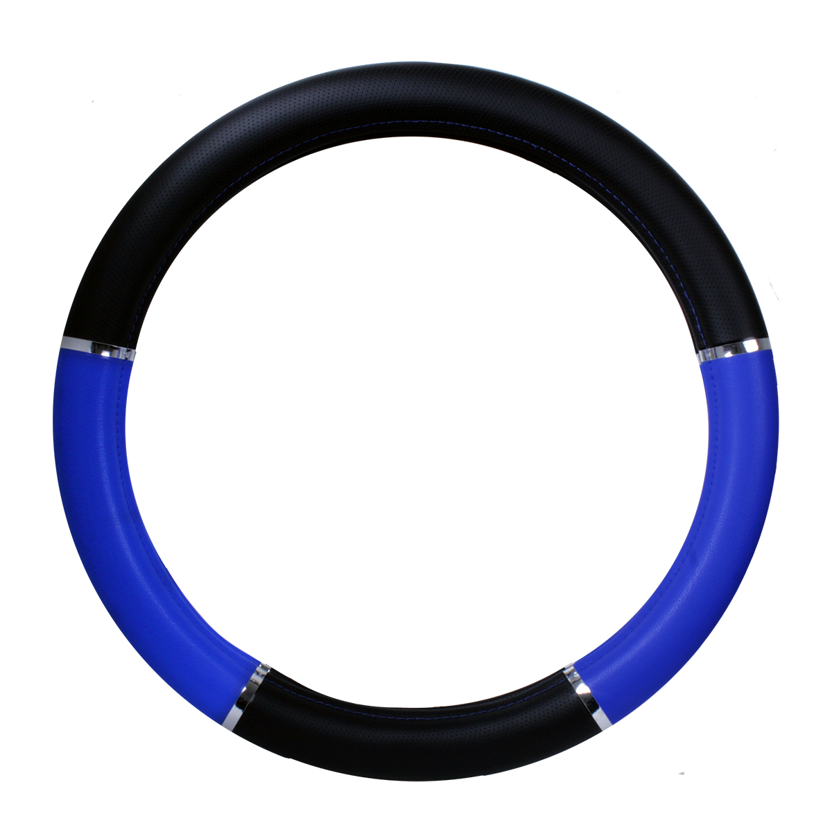 HGV truck steering wheel cover large blue and black 46//48cm