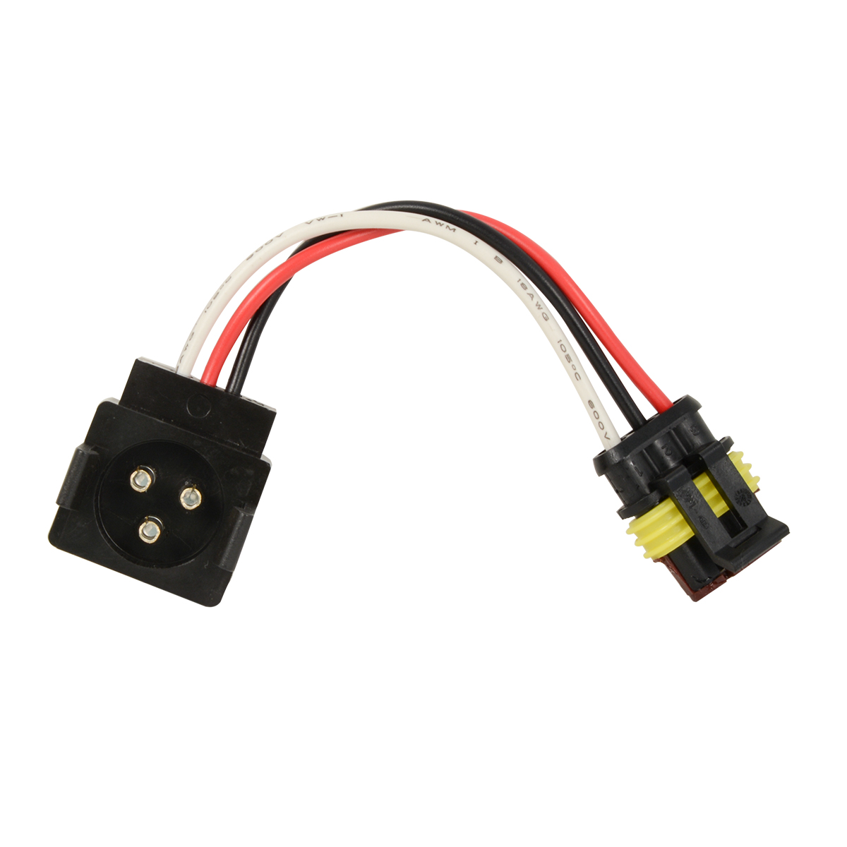 3-Pin Light Adapter Plug from Round 3-Pin to Straight 3-Pin - Grand ...